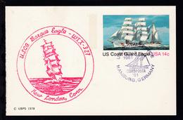 US POSTAL SERVICE NORDPOSTA '81 HAMBURG, GERMANY NOV 7 1981 + Cachet Bark Eagle - Stamps