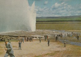 Iceland  The Great Geysir - The Famous Spouting Hot Spring - Iceland