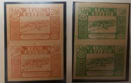 O) 1939 BRAZIL, PROOF IMPERFORATE, VIEW OF CAMETA -FOUNDING FROM 1635 -SCT 419 200r -SCT 420 300x. XF - Brazil