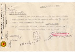 1930 YUGOSLAVIA, CROATIA, ZAGREB, FIRST CROATIAN OIL FACTORY PLC,  INQUIRY ON LETTERHEAD - Invoices & Commercial Documents