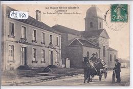 CORBENAY- LES ECOLES ET L EGLISE- ROUTE DE SAINT-LOUP - Autres Communes