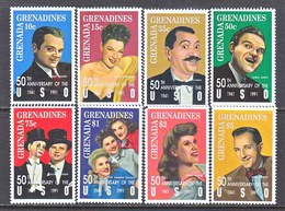GRENADA  GRENADINES  1413-20   **    MUSIC  U.S.O.  ENTERTAINERS - Music