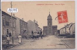 CORBENAY- PLACE DE L EGLISE- L EPICERIE-BOULANGERIE-CAFE-RESTAURANT GROSJEAN-LAURENT - Autres Communes