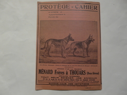 VIEUX PAPIERS - 79 DEUX - SEVRES : PROTEGE-CAHIER  Offert Par La Maison MENARD Frères à THOUARS (vétérinaires) - Animaux