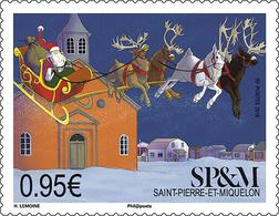 Saint Pierre & Miquelon 2018  - Le Traineau Du Père Noël Mnh - St.Pedro Y Miquelon