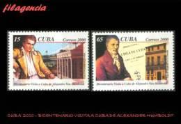 CUBA MINT. 2000-27 BICENTENARIO DE LA VISITA A CUBA DE ALEXANDER VON HUMBOLDT - Cuba