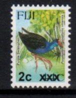 FIJI, MNH, BIRDS, OVERPRINTS, 2c ON 44c - Birds