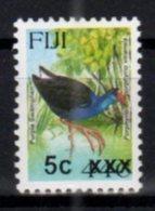 FIJI, MNH, BIRDS, OVERPRINTS, 5c ON 44c - Birds