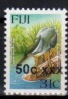 FIJI, MNH, BIRDS, FISH, OVERPRINTS, 50c ON 31c - Oiseaux