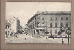 CPA ALLEMAGNE - WIESBADEN - Marktstrasse Und Kgl. Schloss - TB PLAN CENTRE VILLE - Wiesbaden