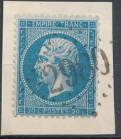 N°22 SUR FRAGMENT LOSANGE GRANDS CHIFFRES BELLE FRAPPE. - 1862 Napoléon III