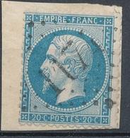 N°22 SUR FRAGMENT LOSANGE GRANDS CHIFFRES BELLE FRAPPE. - 1862 Napoleon III