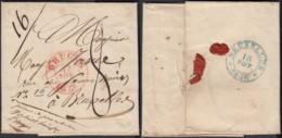 BELGIQUE 1836 DE BRUGES 17/11/1836 VERS BRUXELLES TAXE (DD) DC-3608 - 1830-1849 (Belgique Indépendante)