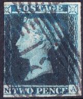 "GREAT BRITAIN 1858 QV 2d BLUE PLATE 13 ""DC"" SG47 Used - 1840-1901 (Viktoria)"