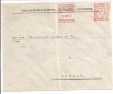 Frankeermachine 7,5 Cent No.9 Misset Doetinchem 22.VIII.27 - Marcofilie - EMA (Print Machine)