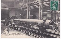 42  Loire -  Aciéries De La Marine - Usines De SAINT-CHAMOND - Atelier D'usinage - Tournage Des Canons De Gros Calibres - Industrie