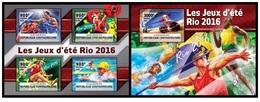 Central Africa 2016 - Rio 2016 Summer Games Official Issue Stamp Set Mnh - Verano 2016: Rio De Janeiro
