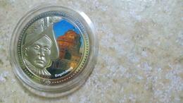 ENGELSBURG - LA GARDE SUISSE - DIE SCHWEIZER GARDE - LA GUARDIA SVIZZERA - BLASON VATICAN - NICKEL COULEURS - Jetons & Médailles