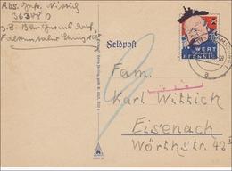 Feldpost II. Weltkrieg:  Feldpost-Spott-Karte - Churchill Nach Eisenach Mit Nachporto 1940 - Non Classés