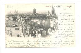 DEP. 21 DIJON - VUE GENERALE PRISE DEPUIS ST-MICHEL Précurseur, Circulée 1899, Tramway, Animée, RARE - Dijon