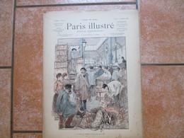 PARIS ILLUSTRE DU 3 SEPTEMBRE 1887 LA CRIEE DU GIBIER AUX HALLES,LA CHASSE,LES FORAINS,LE GENERAL DE SONIS,LE SONNEUR DE - Books, Magazines, Comics