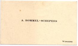 Visitekaartje - Carte Visite - A. Rommel - Schepers - Wingene - Cartes De Visite