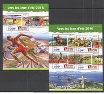 Togo 2015 - Rio 2016 Summer Games Official Issue Stamp Set Mnh - Verano 2016: Rio De Janeiro