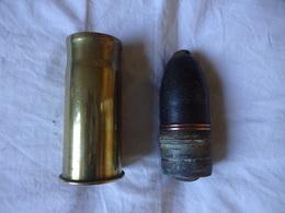 OGIVE OBUS COMPLET ...37/85.......9,5 CMS...VOIR PHOTOS....TOTALEMENT INERTE. DEMILITARISE. BON ETAT. POIDS 593 GRAMMES - Armas De Colección
