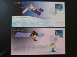 Carte Maximum Card (x2) Espace Space Telecommunications Europa 1991 Allemagne Germany - Europe