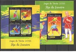 Santo Tome & Principe 2016 - Rio 2016 Summer Games Official Issue Stamp Set Mnh - Verano 2016: Rio De Janeiro
