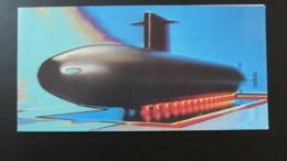 Carte D'invitation Inauguration Du Sous-marin Le Triomphant à Cherbourg 50 Manche 1993 (ex 3) - Sous-marins