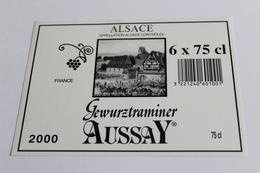 Etiquette De Vin Neuve Jamais Servie GEWURZTRAMINER    AUSSAY  2000 - Gewurztraminer