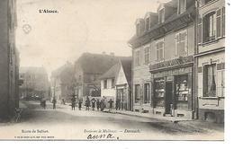 68 - DORNACH - Environs De Mulhouse - Route De Belfort (Animée Et Commerce - 1904) - Autres Communes