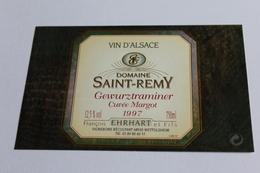 Etiquette De Vin Neuve Jamais Servie GEWURZTRAMINER    1997 Domaine SAINT REMY  Cuvee Margot Ehrhart Wettolsheim - Gewurztraminer