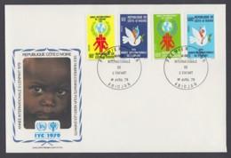 IYC FDC 1979 / Côte D'Ivoire - MiNr. 587-590 / International Year Of The Child - Vereine & Verbände