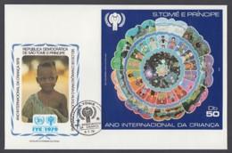 IYC FDC 1979 / São Tomé And Príncipe - MiNr. Block 34 / International Year Of The Child - Vereine & Verbände