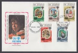 IYC FDC 1979 / Nicaragua - MiNr. 2154-2158 / International Year Of The Child - Vereine & Verbände