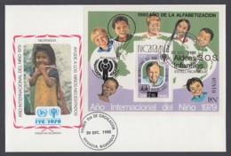 IYC FDC 1979 / Nicaragua - MiNr. Block 133 / International Year Of The Child - Vereine & Verbände