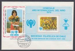 IYC FDC 1979 / Chile - Reminder Sheet With MiNr. 915 / International Year Of The Child - Vereine & Verbände