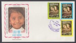 IYC FDC 1979 / Costa Rica - MiNr. 1029-1031 / International Year Of The Child - Vereine & Verbände