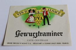 Etiquette De Vin Neuve Jamais Servie GEWURZTRAMINER    Cave Centrale Colmar - Gewurztraminer