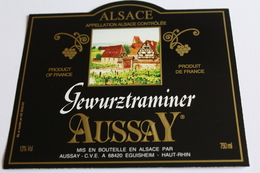 Etiquette De Vin Neuve Jamais Servie GEWURZTRAMINER  AUSSZAY EGUISHEIM - Gewurztraminer