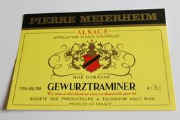 Etiquette De Vin Neuve Jamais Servie GEWURZTRAMINER   Societe Des Producteurs  A EGUISHEIM - Gewurztraminer