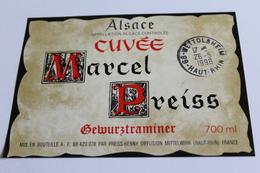 Etiquette De Vin Neuve Jamais Servie GEWURZTRAMINER   MARCEL PREISS  MITTELWIHR - Gewurztraminer