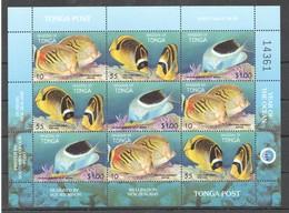 N272 KINGDOM OF TONGA FISH & MARINE LIFE YEAR OF THE OCEAN !!! MICHEL 14 EURO !!! 1SH MNH - Vita Acquatica