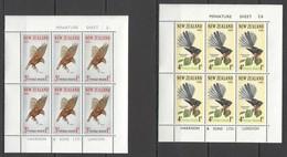 U758 1965 NEW ZEALAND HEALTH FAUNA BIRDS ON TREES #442-43 MICHEL 30 EURO 2KB MNH - Oiseaux