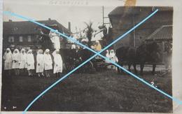 Photo GODARVILLE Trazegnies Manage Défilé Infirmières ONE Consultation Nourrissons Infirmière Nurse Circa 1920 - Orte