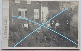 Photo GODARVILLE Trazegnies Manage Famille Au Jardin Cachet Postal 1913 Hainaut - Lieux