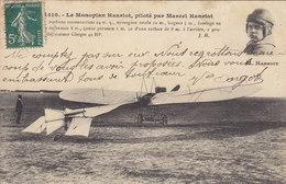 Le Monoplan Hanriot, Piloté Par Marcel Hanriot ( Avion) Circulée Timbrée 1910 - Piloten