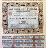Société Foncière Villiers De L'Isle-Adam, Certificat Non émis - Tourism